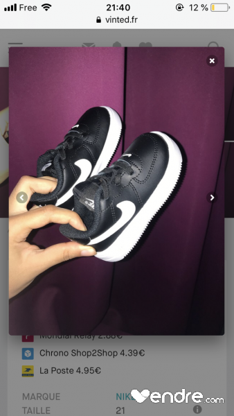 5482e9d4bff8b Nike baby air force one - Vendre.com