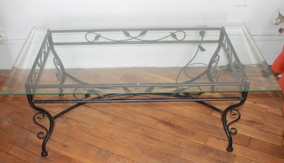 Table basse fer forg et verre conforama - Table basse en verre et fer forge ...