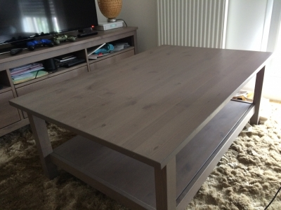 table basse ikea hemnes 118x75cm gris brun. Black Bedroom Furniture Sets. Home Design Ideas